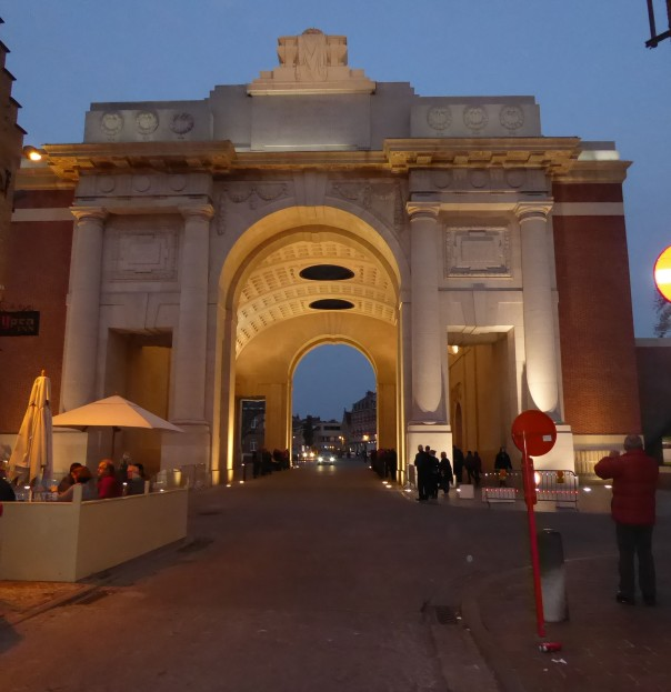 Menin Gate at night