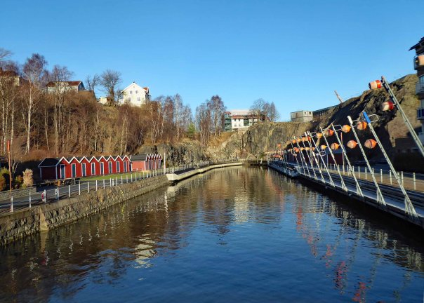 Canal in Gothenburg (Lindholmen)