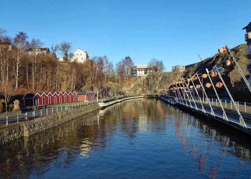 Canal in Gothenburg (Lindholmen)