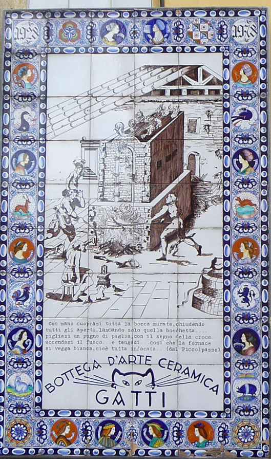 Ceramic Plaque on Wall in Faenza