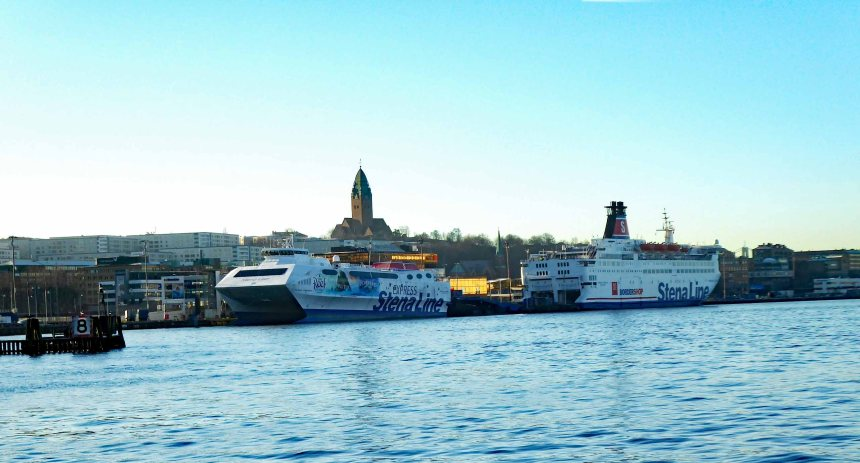 Stena Line Boats in Harbour