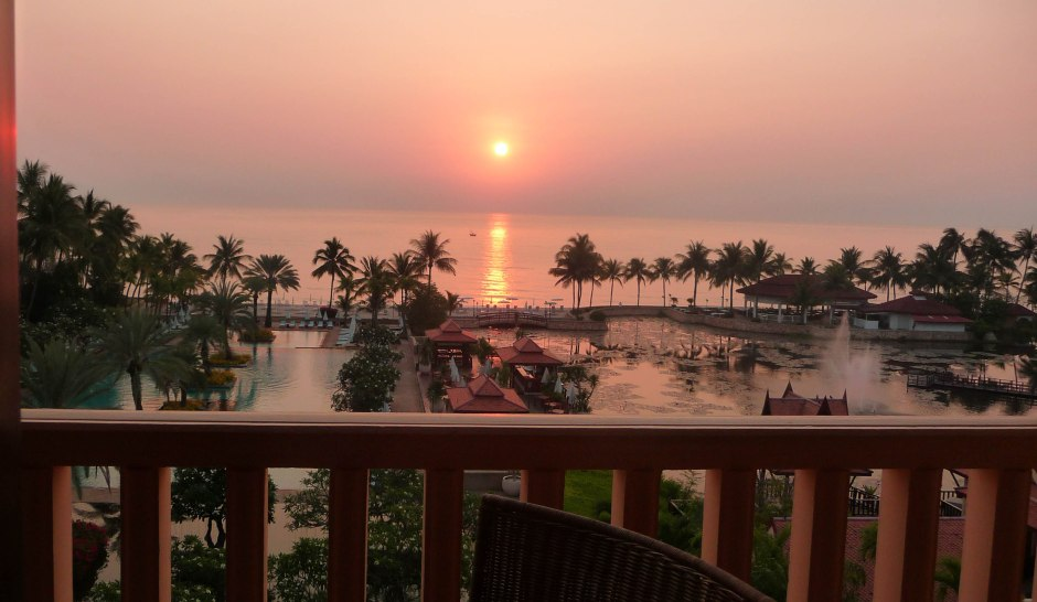 sunset from room