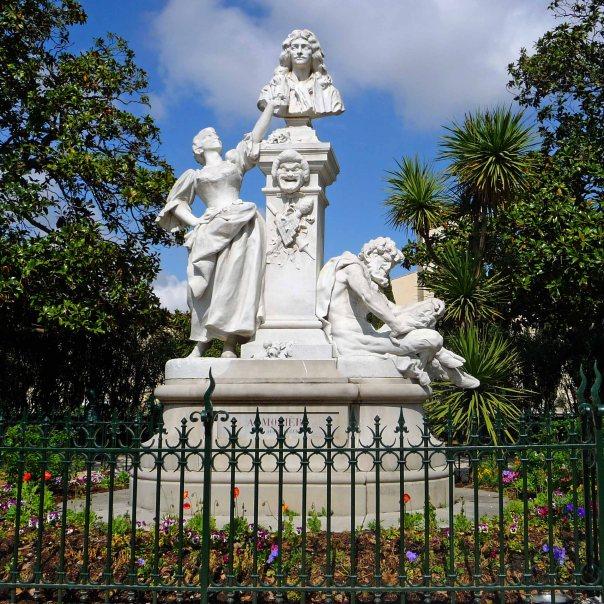 Moliere statue in Pezanas