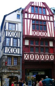 Timbered houses (nb protruding trusses)