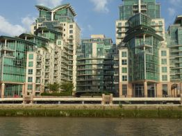 Modern Housing along the Thames