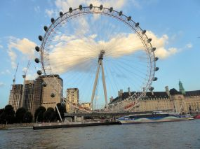 The Eye, dominating the skyline