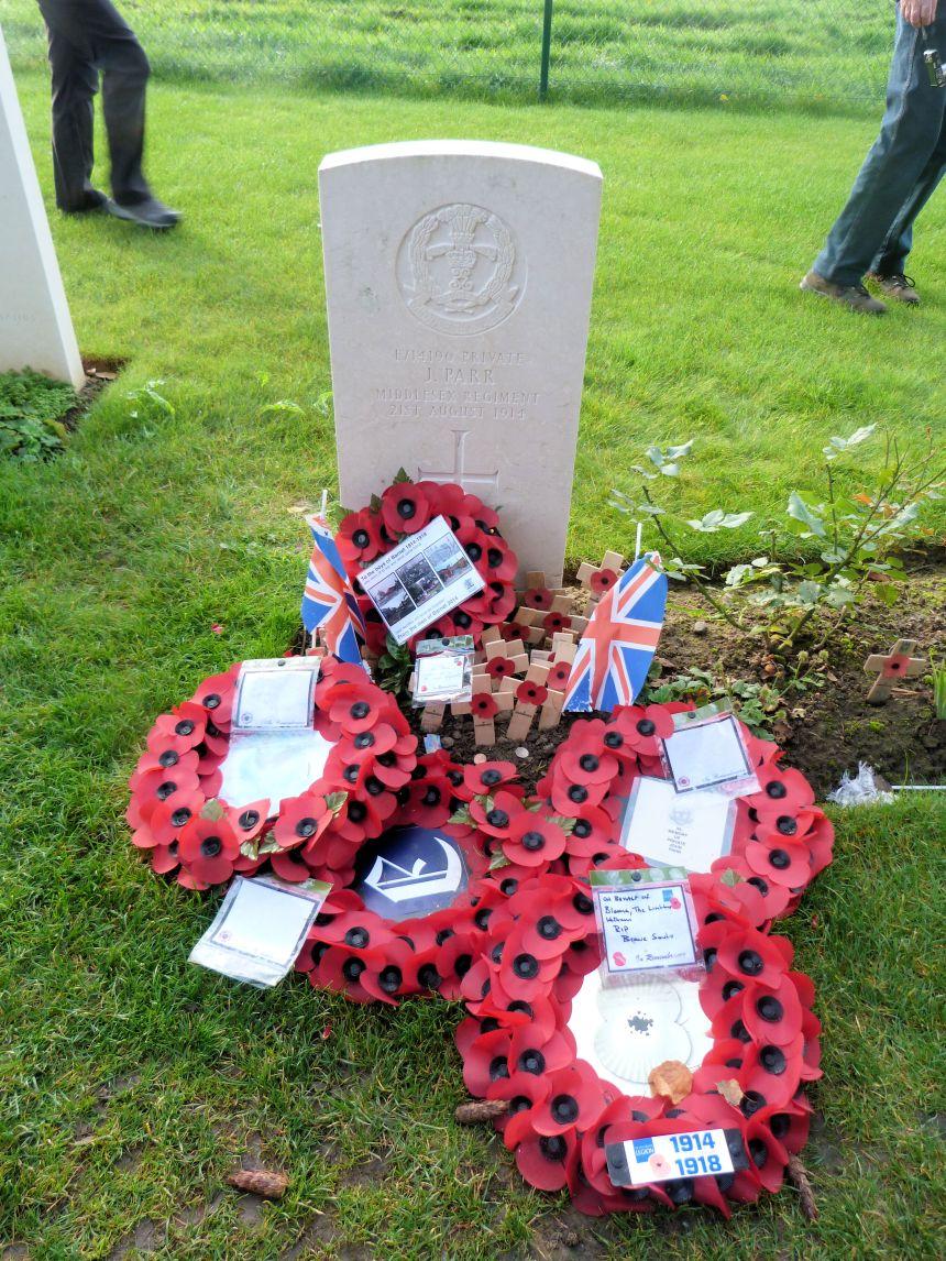 First British Man to die in World War 1