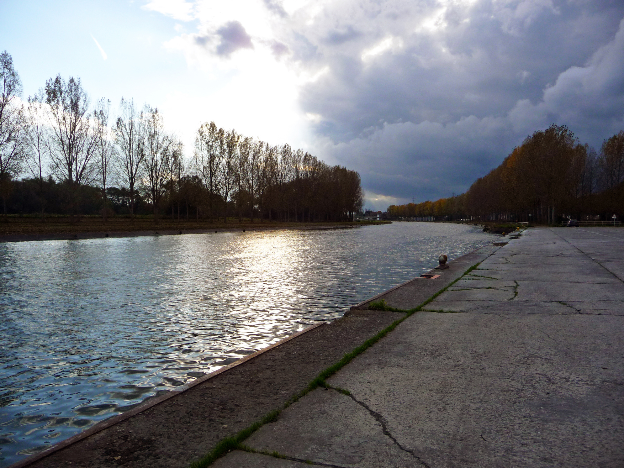 Le Conde Canal with Storm Clouds