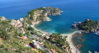 One of Taormina's beaches