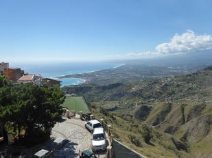 Taormina in the distance