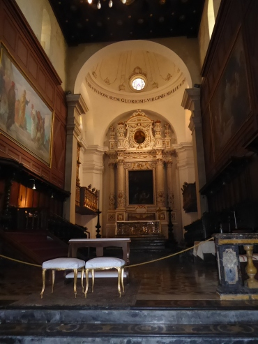 Altar with Caravaggio Painting