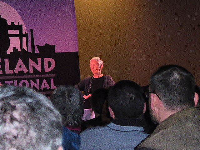 Ann Cleeves in discussion