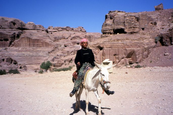 Boy on Donkey at Petra