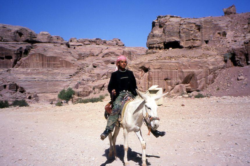Boy on Donkey at Petra