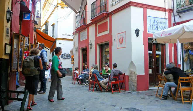 Santa-Cruz-Area,-Seville, La Cafe Bar Teresas
